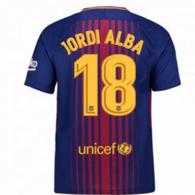 Футбольная форма Барселона домашняя Альба (2017-2018), Nike, Клуб, Взрослая a94cd9abd56