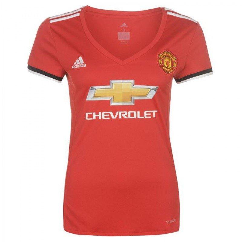 Женская футбольная футболка Манчестер Юнайтед домашняя (2017-2018), Adidas,  Клуб, ea04a958c8e