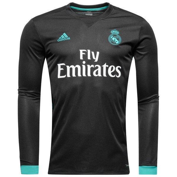 ae5bcd31 Футбольная форма Реал Мадрид выездная длинный рукав (2017-2018), Черный,  Adidas