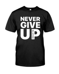 Футболка Never Give up Black B Mo Salah T-shirt, Черный, S