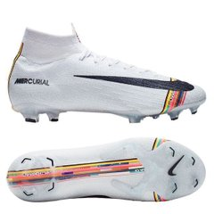Бутсы Nike Mercurial Superfly 6 Elite FG LVL UP - Pure Platinum/Black/White, Красный, Nike, 39