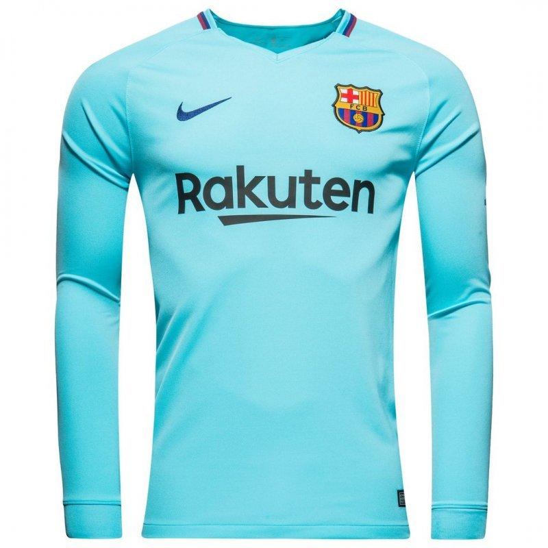 Футбольная форма Барселона выездная длинный рукав (2017-2018), Nike, Клуб, 8c78f15c1cc
