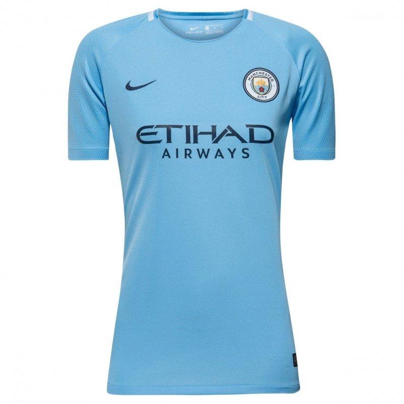 Женская футбольная футболка Манчестер Сити домашняя (2017-2018), Nike, Клуб, 62a96729d0b