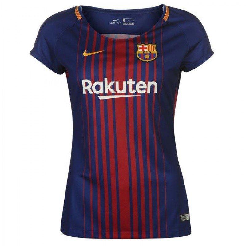 5a639f5e940ae1 Жіноча футбольна футболка Барселона домашня (2017-2018), Синий, Nike, Клуб